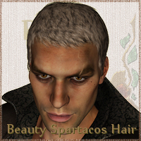 Beauty short Spartacos Hair 3D Figure Essentials Prematos