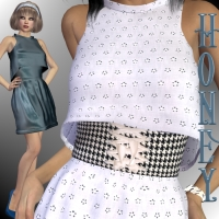 Honey Dress for V4-S4-Elite-A4-Alice 3D Figure Essentials chasmata