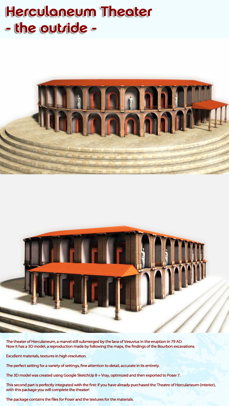 Herculaneum Theater - the outside - (for Poser)