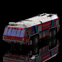 GFLF Simba 8X8 Firefight Truck (for Poser) Transportation Themed Digimation_ModelBank