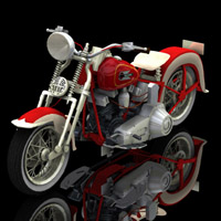 Harley Davidson EL Type 1936 (for Poser) Transportation Themed Digimation_ModelBank