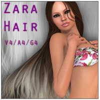 Zara Hair V4 A4 G4 3D Figure Essentials nikisatez