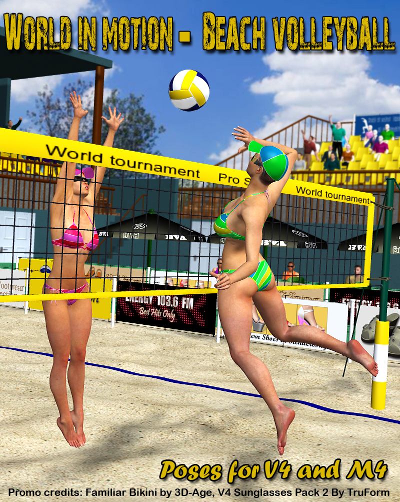 World in motion-Beach Volleyball