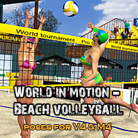 World in motion-Beach Volleyball 3D Figure Essentials santuziy78