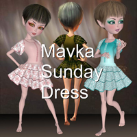 CF_Mavka_Sunday_Dress 3D Figure Essentials TeckformCF
