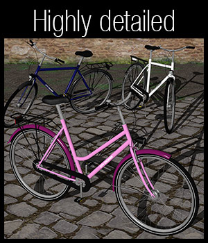 Adults bicycle set 3D Models 2nd_World