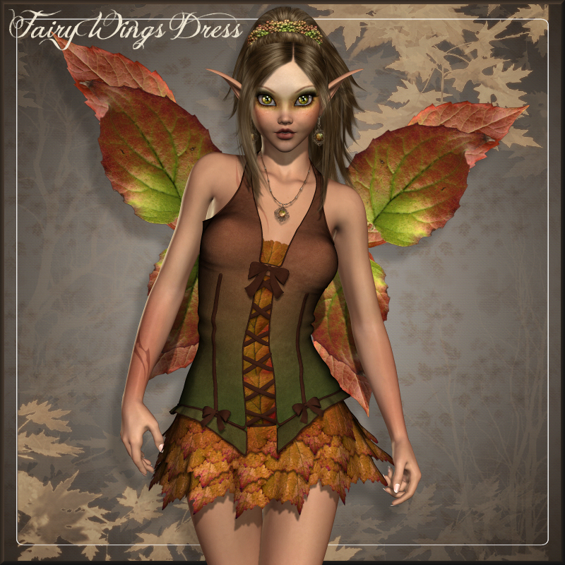 Fairy Wings Dress V4/A4/G4/Elite