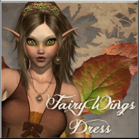 Fairy Wings Dress V4/A4/G4/Elite 3D Figure Assets 3D Models RPublishing