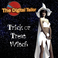 The Digita Tailor Trick or Treat Witch + Dynamic Cloth Tutorials Tutorials : Learn 3D 3D Figure Assets Fugazi1968