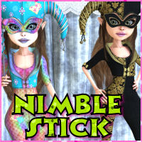 NimbleStick 3D Figure Essentials 3D Models JudibugDesigns