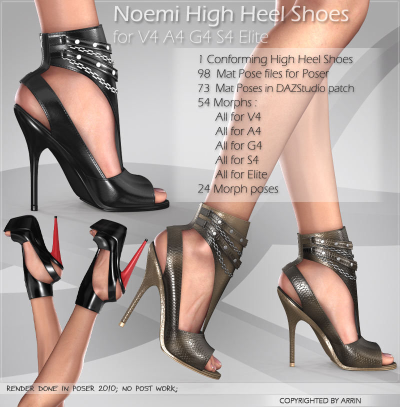 Noemi High Heel Shoes for V4 A4 G4 S4 Elite