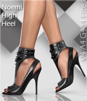 Noemi High Heel Shoes for V4 A4 G4 S4 Elite 3D Figure Assets Arryn