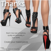 Noemi High Heel Shoes for V4 A4 G4 S4 Elite image 8