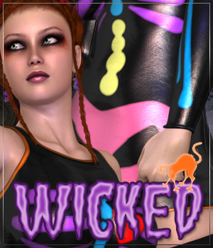 WICKED for Skeleton Outfit 3D Models 3D Figure Essentials Anagord