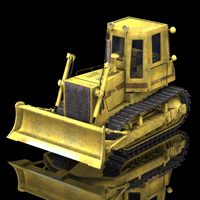 Bulldozer FD14 E (for Poser) Transportation Themed Digimation_ModelBank