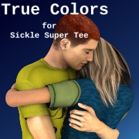 True Colors for Sickle Super Tee 3D Figure Assets SickleYield