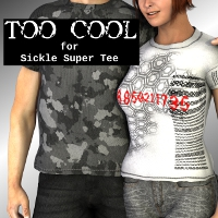 Too Cool for Sickle Super Tee 3D Figure Assets SickleYield