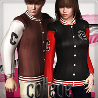 FASHIONWAVE College Bundle 3D Models 3D Figure Assets outoftouch