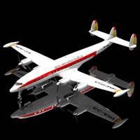 Lockheed Constellation (for Poser) 3D Models Digimation_ModelBank