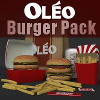 OLEO Burger Pack Themed Software Props/Scenes/Architecture TruForm