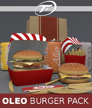 OLEO Burger Pack 3D Models TruForm