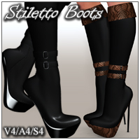 FashionFeet - StilettoBoots for V4/A4/S4 Footwear nikisatez