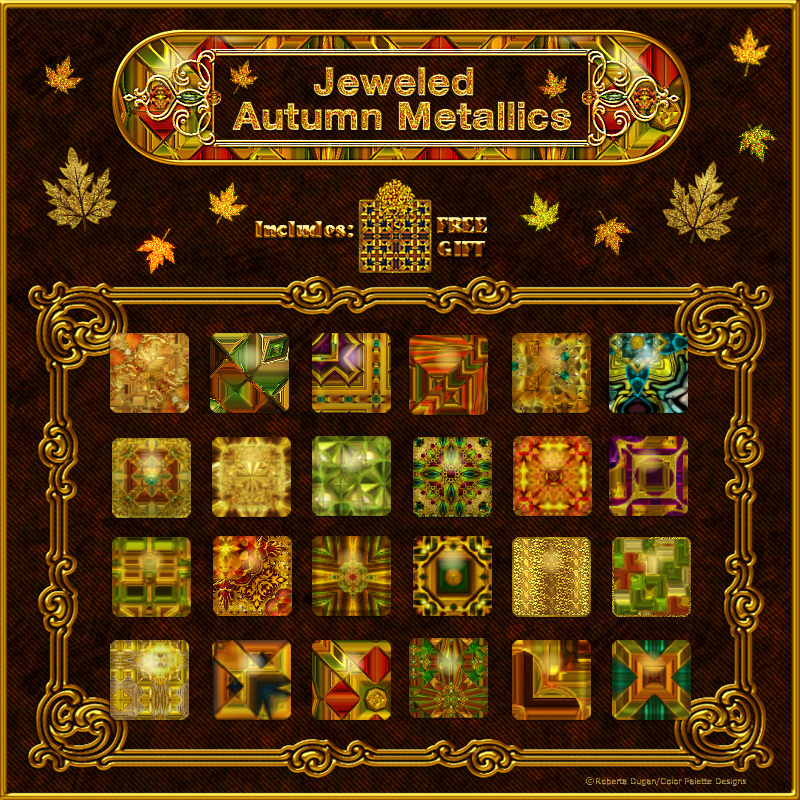 Jeweled Autumn Metallic Styles w/Free Gift