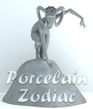 Porcelain - Zodiac - The Fire Signs 3D Figure Assets SaintFox