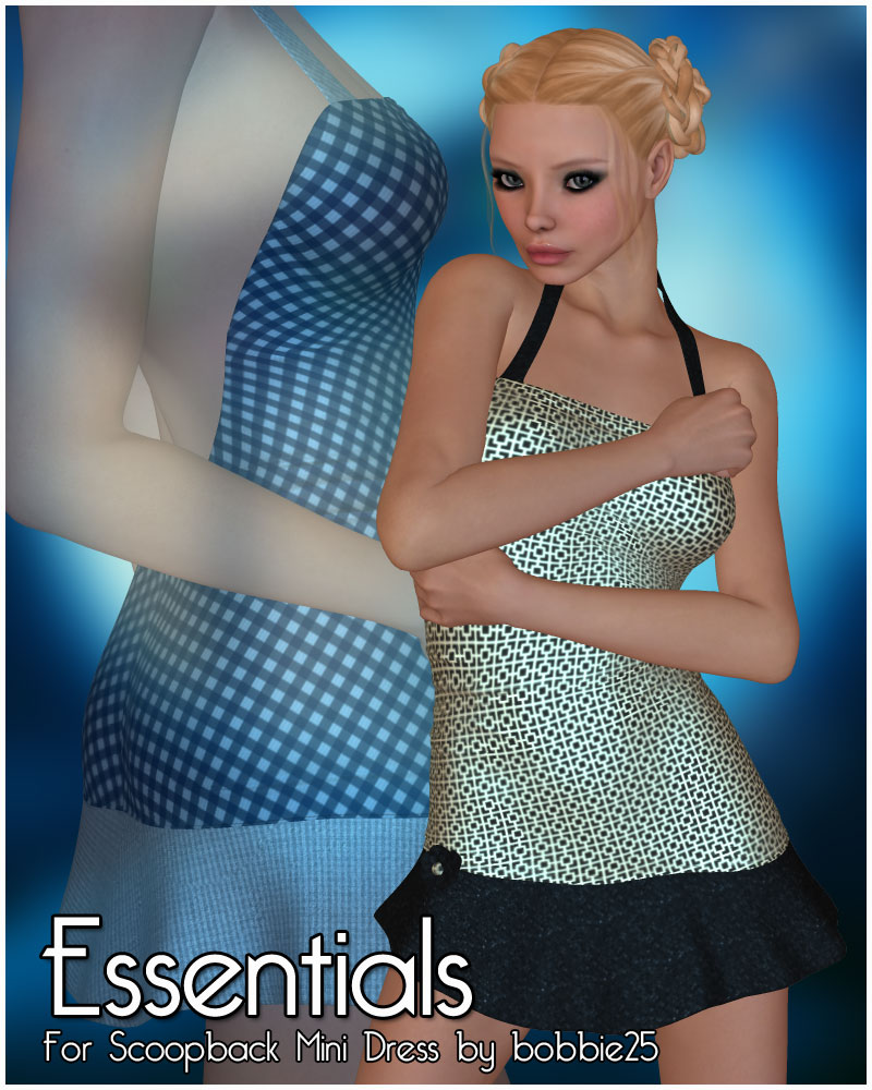 Essentials for Scoopback Mini Dress by bobbie25