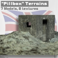 Pillbox Terrains 3D Models 3D Figure Essentials IanMPalmer