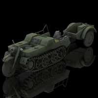 SDKFZ 2 Kleines Kettenkraftrad (for Poser) Themed Transportation Digimation_ModelBank