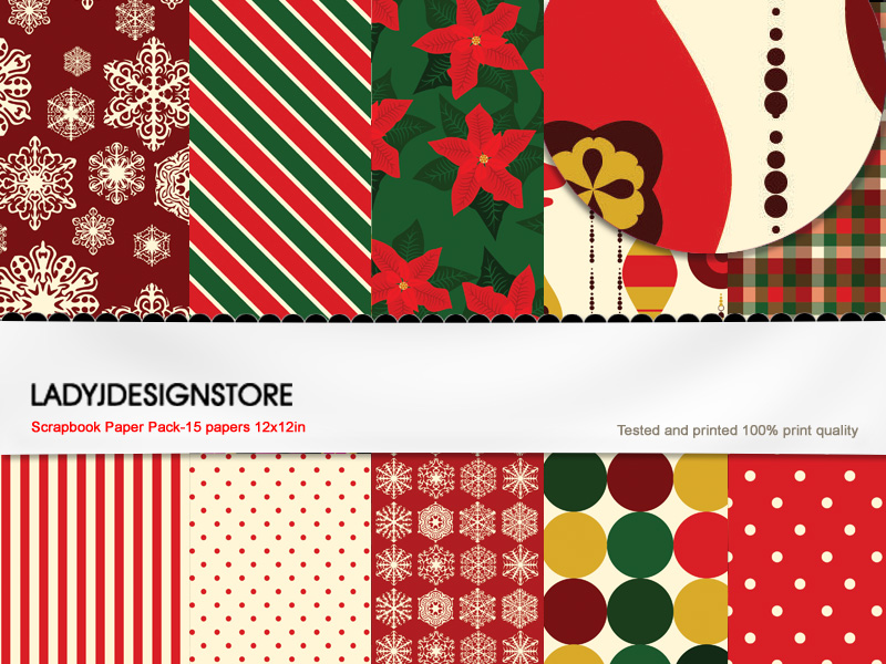 Christmas Paper Pack 1 * Vintage*