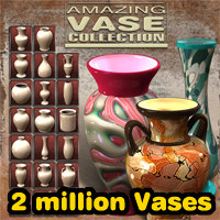 Exnem Amazing Vase Collection Props/Scenes/Architecture Software Themed exnem