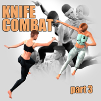 Knife combat - part 3 Themed Props/Scenes/Architecture Poses/Expressions PainMD