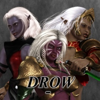 Drow - Dark & Deadly 3D Figure Assets greyson5