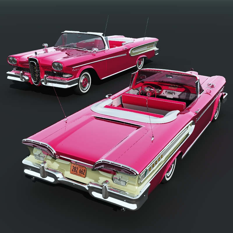 Edsel Citation Convertible 1958 by 3DClassics
