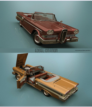 Edsel Citation Convertible 1958 3D Models 3DClassics