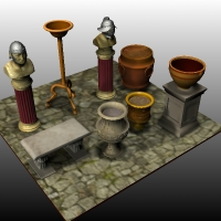 Roman Set3 Themed Props/Scenes/Architecture Nationale7