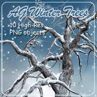 AG Winter Trees 2D And/Or Merchant Resources Themed AdamantGrafix