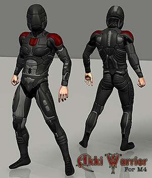 Akki Warrior for M4 3D Models 3D Figure Essentials Simon-3D