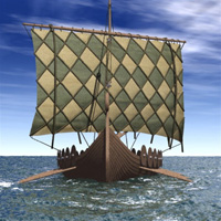 Viking Ship (for Poser) Themed Transportation Digimation_ModelBank