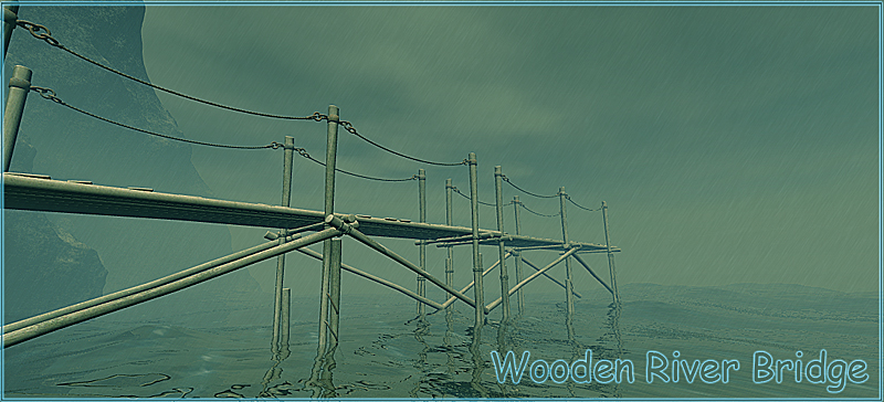 Wooden River Bridge
