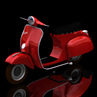 Vespa (for Poser) Transportation Themed Digimation_ModelBank
