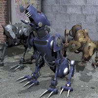 Hell Hound Cyber Dog Themed Stand Alone Figures coflek-gnorg