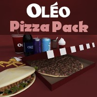 OLEO Pizza Pack 3D Models TruForm