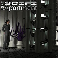 SciFi Loft Apartment 3D Figure Assets 3D Models 3-d-c