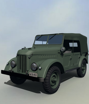 Gaz 69 Command Car 3D Models 3DClassics