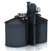 Twin Silo (for Poser) 3D Models Digimation_ModelBank