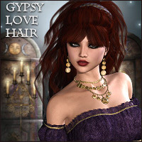 Gypsy Love Hair V4,A4,G4 and Genesis Hair Themed Software RPublishing