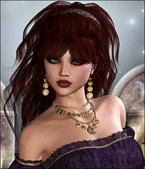 Gypsy Love Hair V4,A4,G4 and Genesis 3D Figure Assets RPublishing